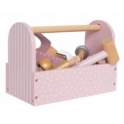 Boite à outils en bois rose