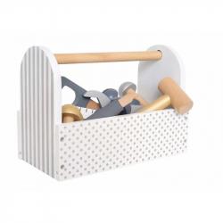 Boite à outils en bois gris