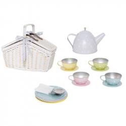 Panier pique-nique avec service à thé
