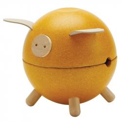 Tirelire cochon jaune