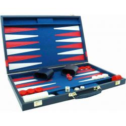 Backgammon de luxe bleu marine