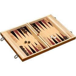 Backgammon de luxe en bois clair