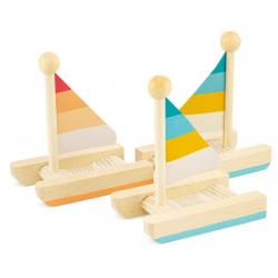 Voilier en bois - Catamaran
