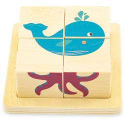 Cubes puzzles - La mer