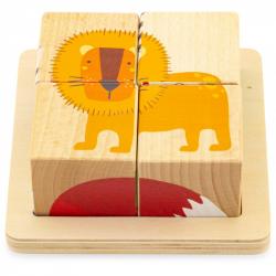 Cubes puzzles - La savane