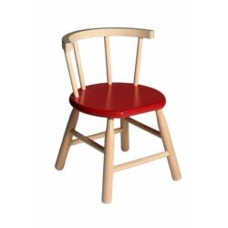 Chaise en bois rouge