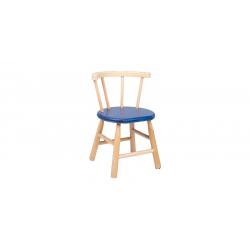 Chaise en bois bleu