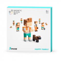Pixio - Cubes magnétiques Happy Family