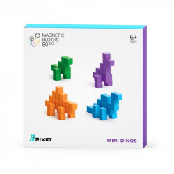 Pixio - Cubes magnétiques Mini Dinos