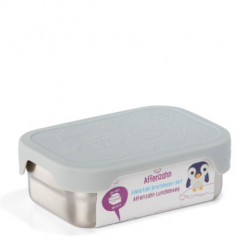Lunch box en acier inoxydable gris