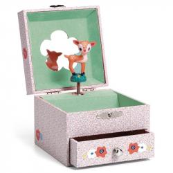 Boîte à bijoux musicale - Faon dans les bois