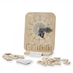 Horloge éducative en bois