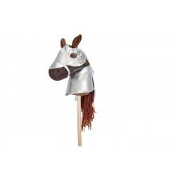 Armure pour cheval bâton - Argenté