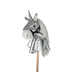 Armure pour cheval bâton - Set argenté