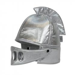 Heaume de chevalier argenté