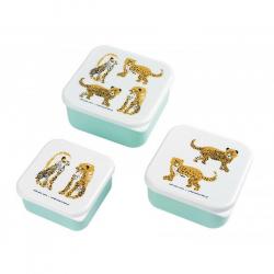 Les jaguars - Set de 3 boites à goûter