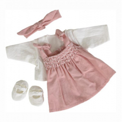 Les petits - Vêtement rose à smocks