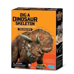 Déterre un squelette de dino - Triceratops