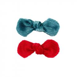 Pinces à cheveux Emery bleu/rouge