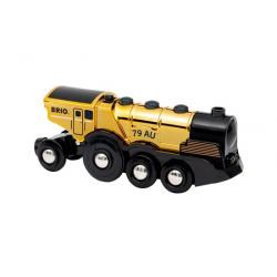 Locomotive dorée puissante à piles