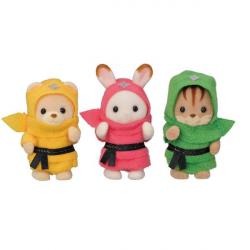 Sylvanian Families - Trio de bébés costumés Ninja