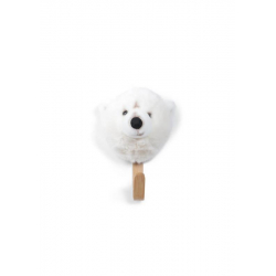 Porte-manteau ours blanc
