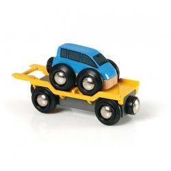 Wagon transport de voiture avec rampe